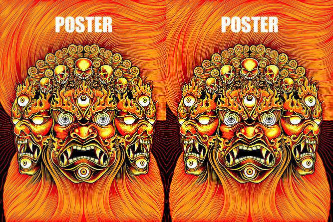 Poster illuminated